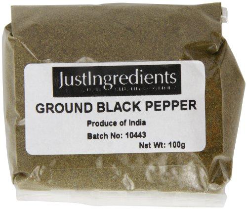JustIngredients Essentials Black Pepper Ground 100 g - Pack of 5 - £3.03 (+£4.49 NP) @ Amazon