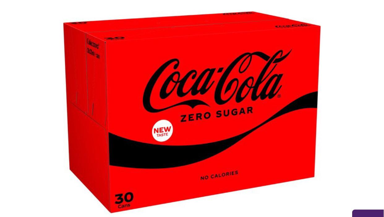 Coca-Cola Zero Sugar 30 x 330ml - £8.50 @ Ocado