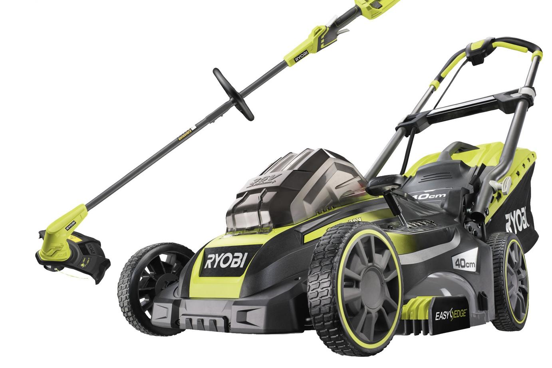36V Cordless 40cm Lawnmower & 28/33cm Grass Trimmer Starter Kit (1 x 5.0Ah) - £399 @ Ryobi UK