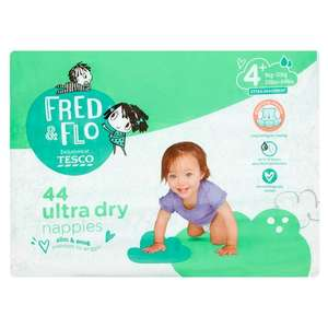 Fred & Flo ultra dry nappies 24pk size 4 £1.18 instore at Tesco