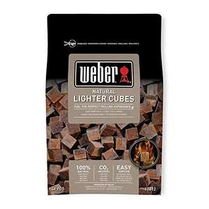Weber 17612 Lighter Cubes £3.43 Prime (+ £4.49 NP) Delivered (UK Mainland) Sold by Amazon EU @ Amazon