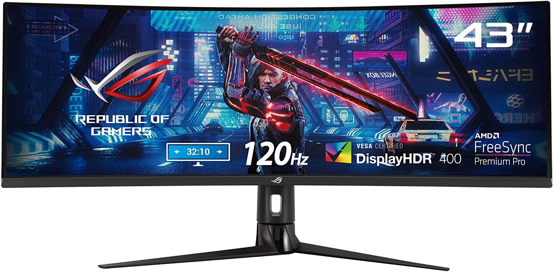 ASUS monitor Curved XG43VQ, 43 Inch (3840x1200, VA, 120Hz) £649.98 at Amazon