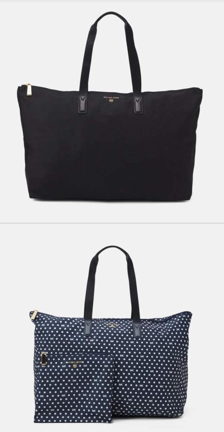 Michael Kors Jet Set Travel Packable Tote Set Bag & Washbag £77.99 / £67.99 with newsletter up Black or Blue Free Delivery @ Zalando