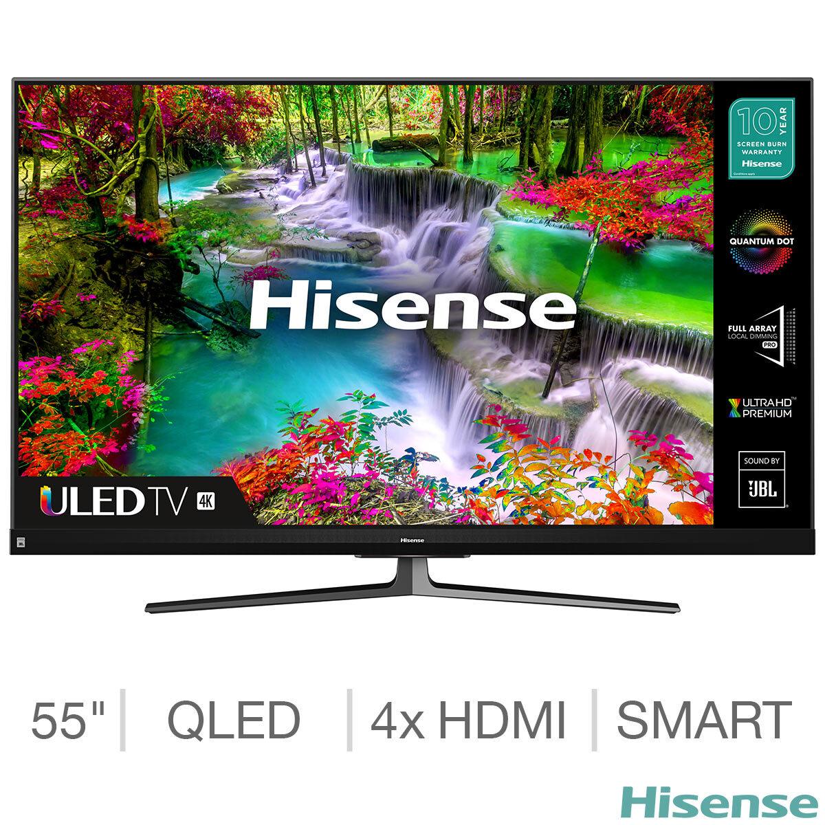 Hisense 55U8QFTUK 55 Inch QLED 4K Ultra HD Smart TV + 5 year warranty - £499 delivered (Membership Required) @ Costco