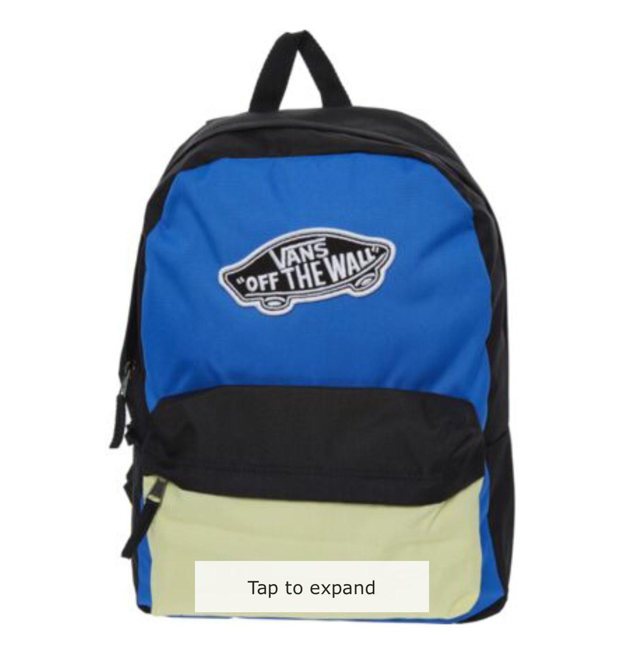 VANS Multicolour Colour Block Backpack £12.99 + £1.99 C&C = £14.98