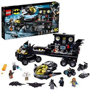 LEGO 76160 Super Heroes DC Batman Mobile Bat Base Batcave Truck Toy with Jet Plane, Quad Bike, Motorbike & Water Scooter £51.98 @ Amazon