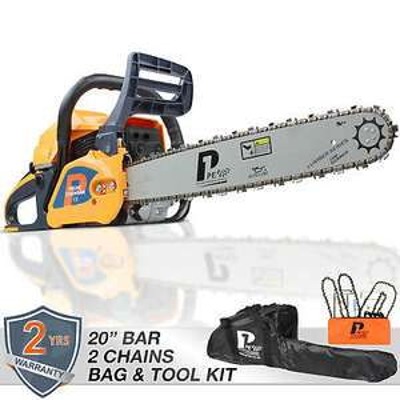 "Petrol Chainsaw 20"" bar 62cc Powered by HYUNDAI Easy Start x 2 chains £95.99 at Hyundai ebay"