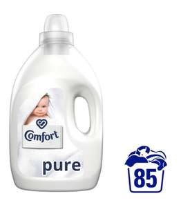 Comfort Pure/Blue and sunshiny days fabric conditioner 85 washes 3L £3 at Tesco
