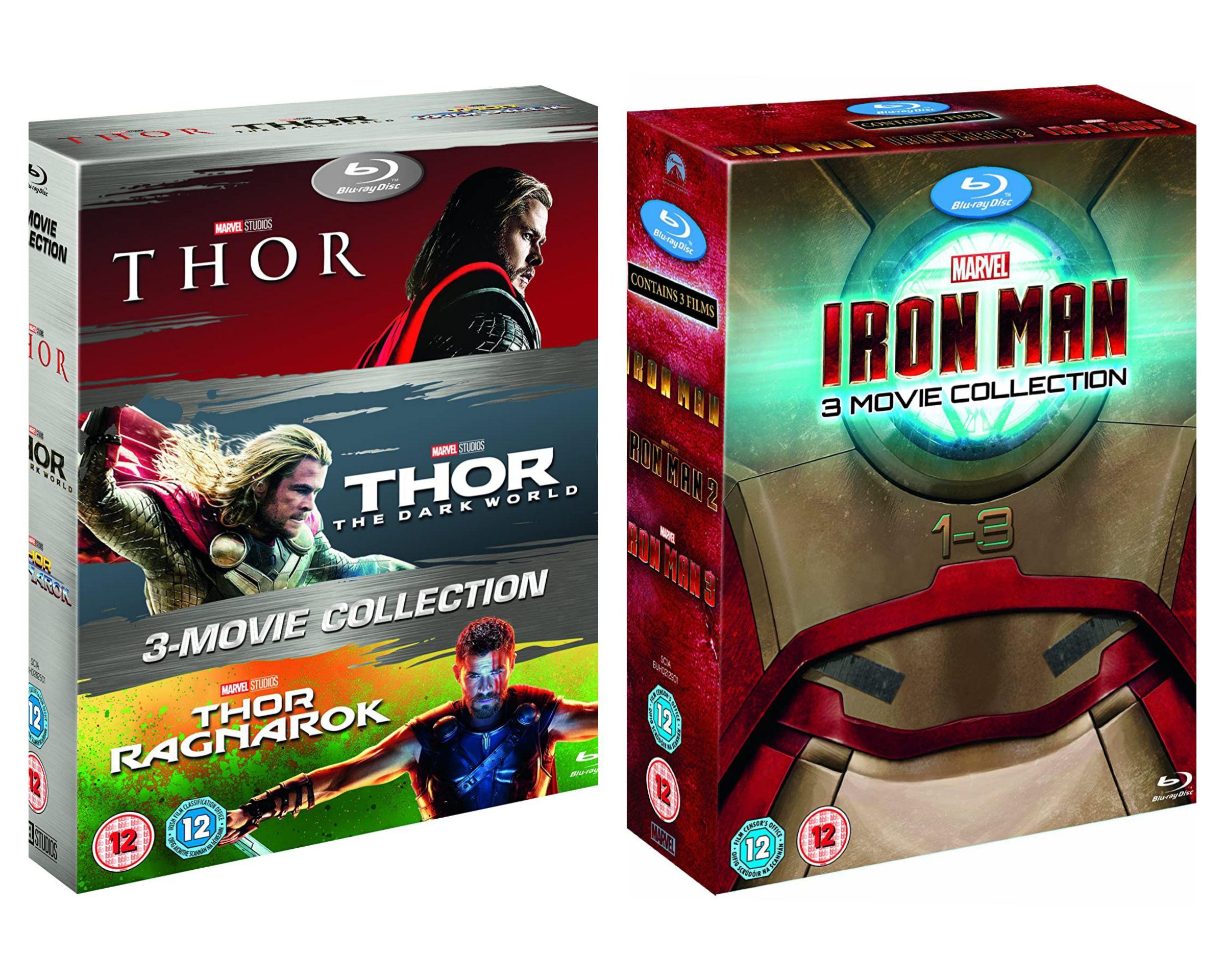 Thor 1-3/Iron Man 1-3 Box Set BD [Blu-ray] [2017] [Region Free] £14.99/GOTG 1&2 blu ray £9.99 (+£2.99 Non Prime) @ Amazon