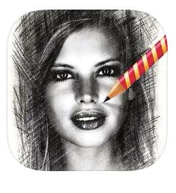 Mysketch - Pencil Sticker - free on IOS