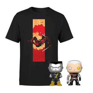 Deadpool T-Shirt with 2 Pop figures £12.99 +£1.99 delivery @ Zavvi