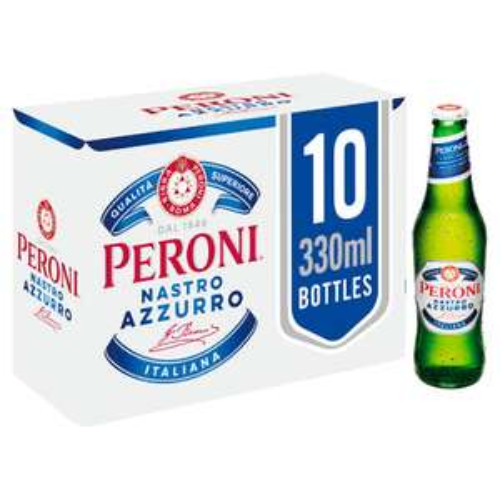 Peroni Nastro Azzurro Lager 10 x 330ml bottles £9.97 instore or online @ Asda
