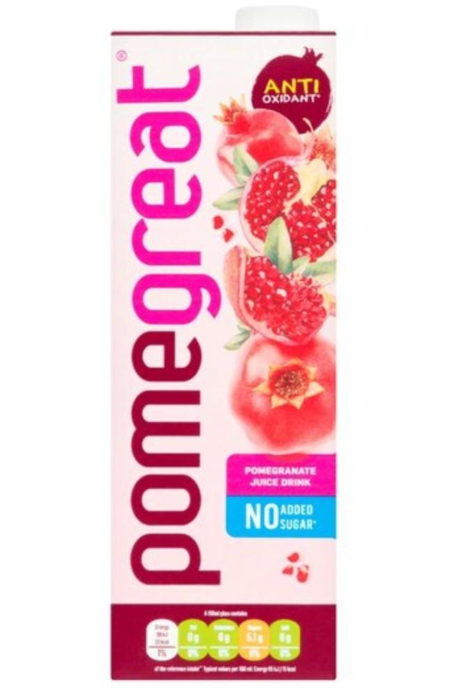 Pomegreat Pomegranate Juice Drink 1 Litre - £1 Clubcard Price @ Tesco