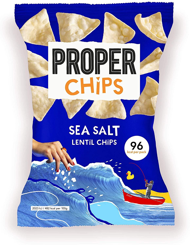 Proper chips sea salt 24 x 20g only £4.55 (+£4.49 Non Prime) @ Amazon