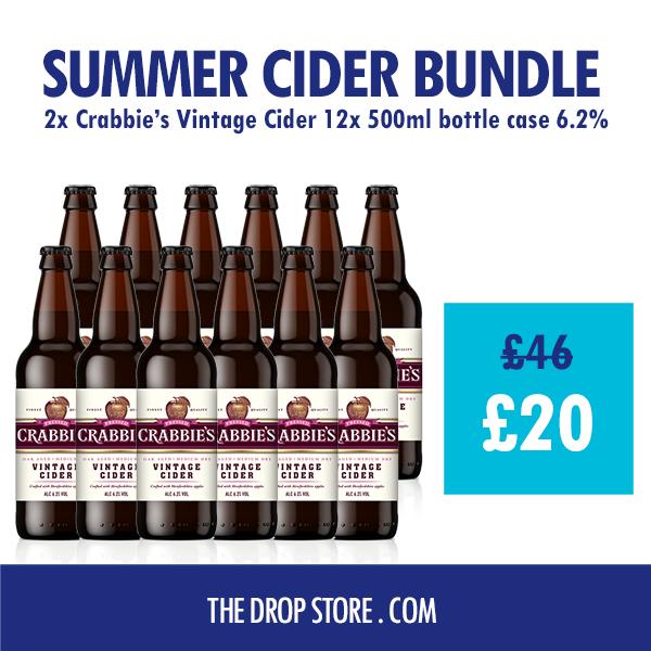 Summer Cider Bundle: 24 bottles of vintage cider and an extra 12 bottles free - £20 (+£5.99 Delivery) @ The Drop Store