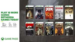 Xbox Game Pass Additions - Doom, The Evil Within 2, Fallout 3, Fallout 76 Steel Reign & More (10 Bethesda Classic titles)