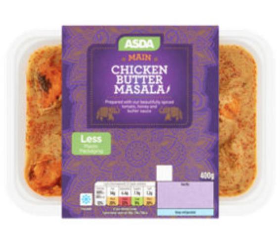Asda Indian ready meals all types 400G - £2 @ Asda