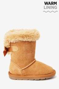 Girls tan suede pull on boots reduced to £8 at Next (free C&C)