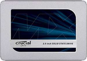 Crucial MX500 500 GB Up to 560 MB/s (3D NAND, SATA, 2.5 Inch, Internal SSD) £41.99 delivered @ Amazon