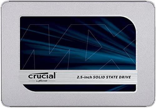 Crucial MX500 1 TB CT1000MX500SSD1 - Up to 560 MB/s (3D NAND, SATA, 2.5 Inch, Internal SSD), Black - £81.13 @ Amazon