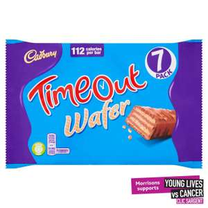 Cadbury Timeout Wafer Biscuits 7 Pack7 x 21.2g £1 @ Morrisons