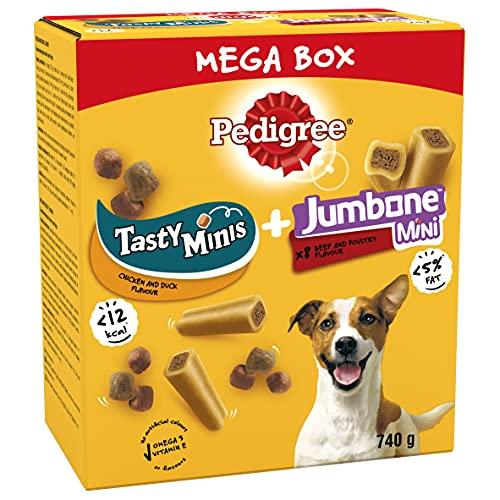 Pedigree Mega Box - Dog Treat Multipack with 3 Tasty Minis 740g - £3.51 9+£4.49 nonPrime) at Amazon