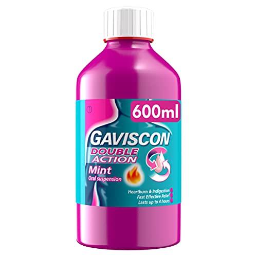 Gaviscon Heartburn and Indigestion Liquid, Double Action, Mint Flavour 600ml £6.46 (+£4.49 p&p Non-Prime) @ Amazon