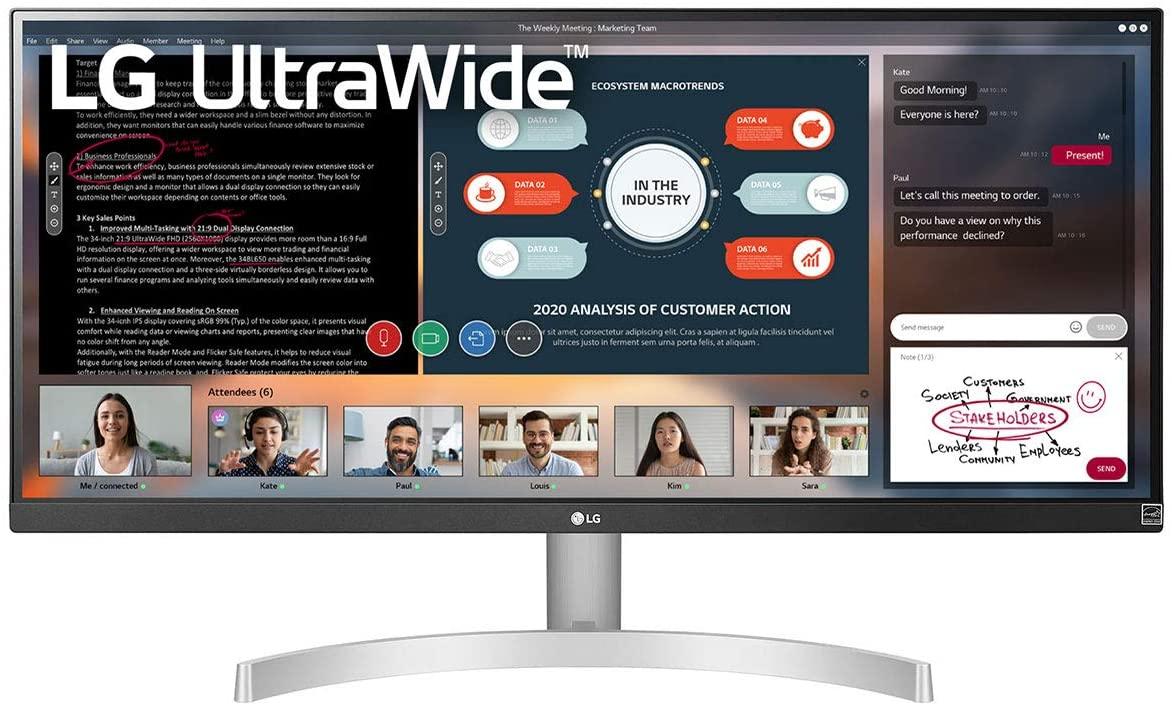 LG 29WN600-W 29'' UltraWide WFHD IPS FreeSync 75Hz Monitor, £176.43 with code (UK Mainland) at Ebuyer/ebay