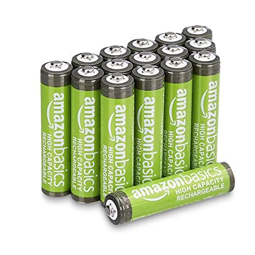 Amazon Basics AAA High-Capacity Rechargeable Batteries 850mAh (16-Pack) - £9.90 (+ £4.49 Non Prime) @ Amazon