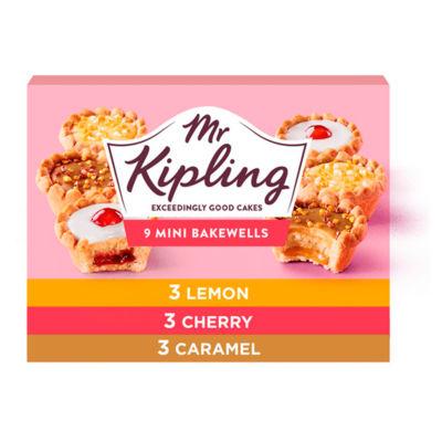 Mr Kipling Mini Bakewell's Selection / Mini Fruit Pies Selection 9pk £1.00 @ Asda