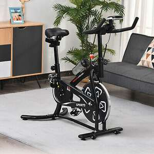 Exercise Training Bike With LCD Monitor + Tablet Stand £101.59 Delivered using code (UK Mainland) @ eBay / outsunny