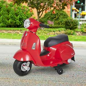 HOMCOM Vespa Licensed Kids Ride On Motorcycle 6V Battery Powered Electric Toy £35.19 with Free UK Mainland Delivery From mhstarukltd / eBay