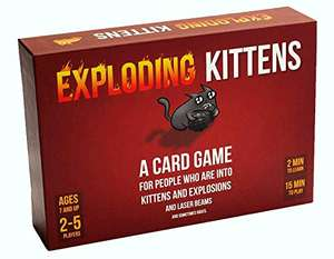 Exploding Kittens Card Game - Family Friendly £9.95 (+£4.49 NP) Delivered @ Amazon