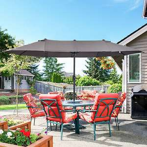 4.6m Double-Sided Patio Parasol / Canopy Grey Or Red £71.99 delivered (UK Mainland) / Off White £67.99 / Green £67.99 @ eBay / Outsunny