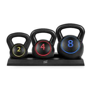 Neo 3 Piece Kettlebell Set Weights Sets with Rack Stand 2 4 8 KG - £23.99 delivered using code @ eBay / neodirect