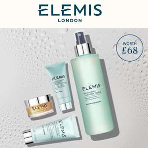 Elemis FREE 4-piece gift of Summer Essentials Bundle (worth £68) when you buy a full size item (from £25) using discount code @ ELEMIS