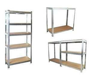 5 Tier Garage/Shed Shelving Includes MDF Shelves Size: 70 x 30 CM £19.99 with Code neodirect /eBay Free UK Mainland Delivery