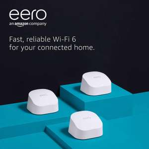 All-new Amazon eero 6 dual-band mesh Wi-Fi 6 system with built-in Zigbee smart home hub 3-pack - £195 @ Amazon Prime Exclusive