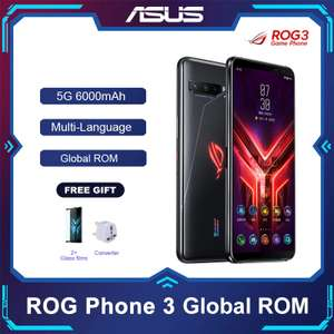 ASUS ROG Phone 3 5G Smartphone Snapdragon 865 12GB/128GB 6000mAh NFC Android Q 144Hz £303.62 delivered @ Ali Express / Asus Authorised Store