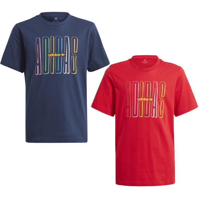 adidas Originals Graphic Logo Print Older Kids T-Shirt - Red £8.67 / Navy, or Black £9.39 delivered using app @ adidas