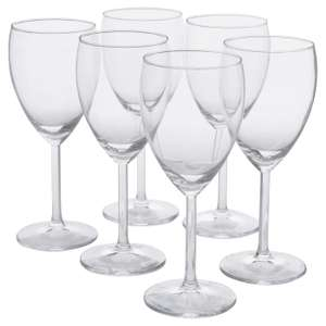 SVALKA White wine glass clear 25cl £1 @ Ikea instore bought in Ashton
