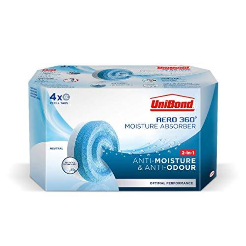 UniBond AERO 360° Moisture Absorber Neutral Refill Tab - 4 pack, £8.50 (+£4.49 non Prime) @ Amazon