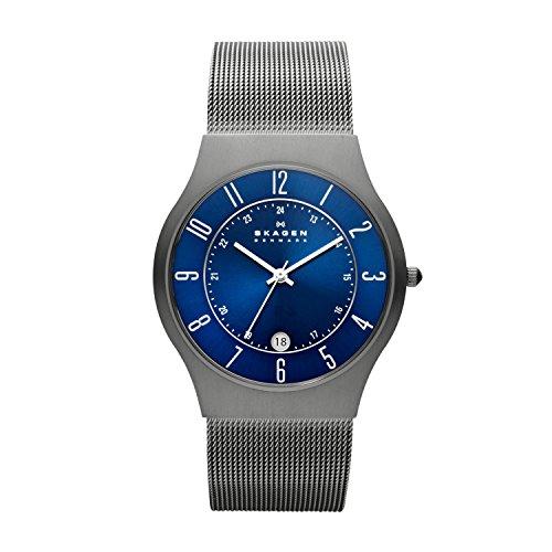 Skagen Sundby Titanium and Stainless Steel Mesh Casual Quartz Men's Watch - £35.97 @ Amazon