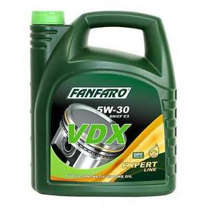 5L FANFARO VDX 5W-30 ACEA C3 Synthetic Engine Oil API SN/CH-4 Dexos2 - £15.19 delivered using code autocubeautoparts / eBay