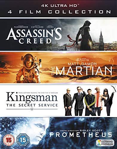 Assassin's Creed, The Martian, Kingsman & Prometheus 4K UHD Boxset - £19.99 Prime / +£2.99 non Prime @ Amazon