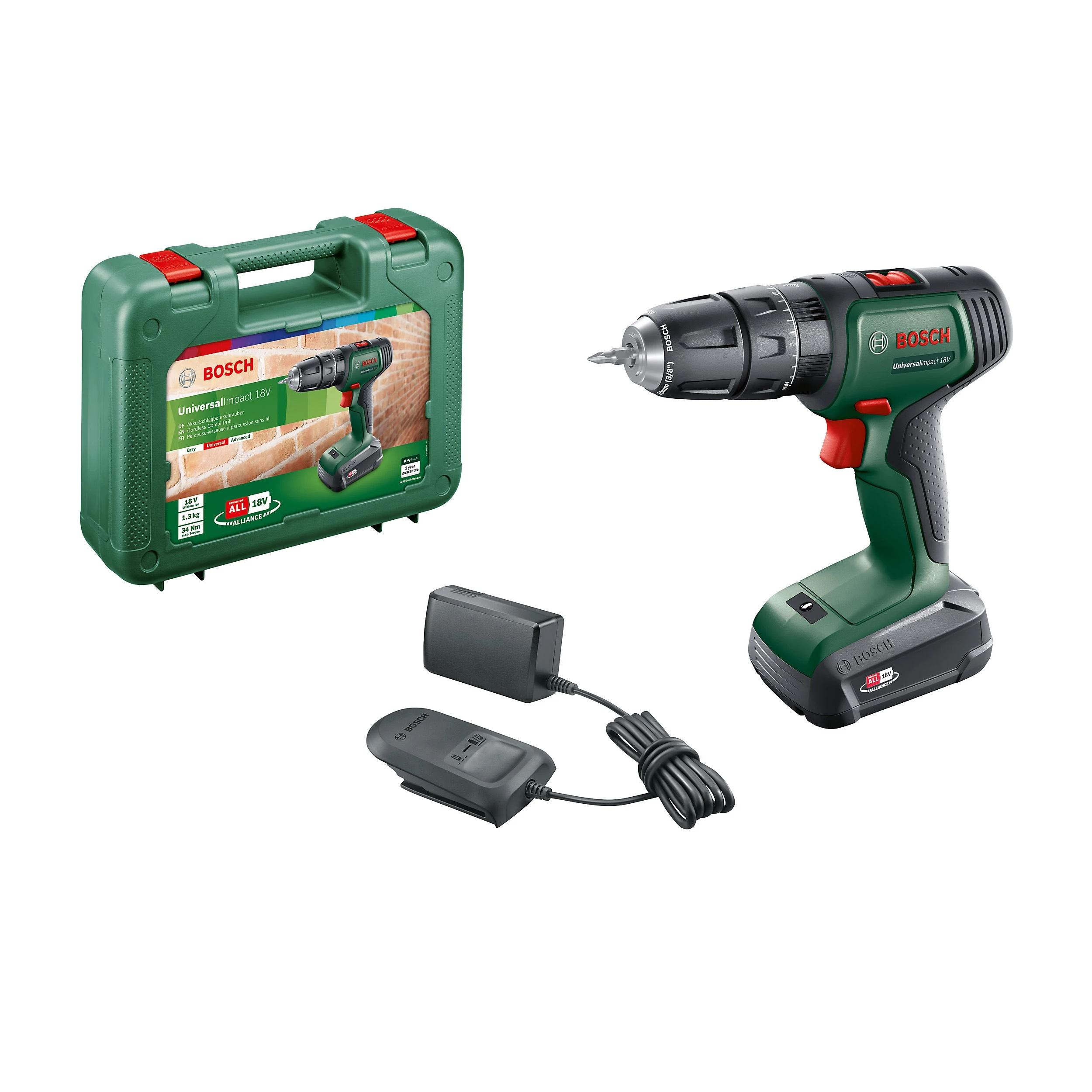 Bosch Power for ALL 18V 1.5Ah Li-ion Cordless Combi drill 0.603.9D4.170 £70 @ B&Q