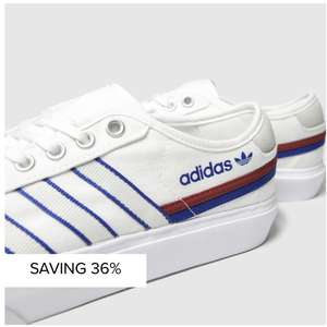 adidas White & Blue Delpala Trainers (Also black & grey in selected sizes) £34.99 delivered @ Schuh