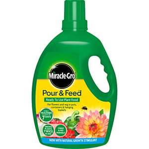 Miracle-Gro Pour & Feed Ready to Use Liquid Plant Food, 3 Litre, Green £5.99 (+£4.49 non prime) @ Amazon