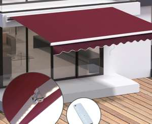 Motorised Retractable Awning Window Sunshade w/LED Red 3x2.5m. Also in green and other sizes £223.99 outsunny eBay