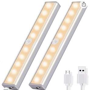 OUSFOT Cupboard Light Motion Sensor 10-LED Wireless USB Rechargeable £13.66 prime / £18.15 non prime Sold by ousfot and Fulfilled by Amazon